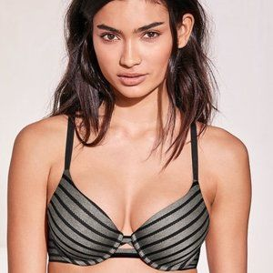 Victoria's Secret Perfect Shape Bra Striped 32D